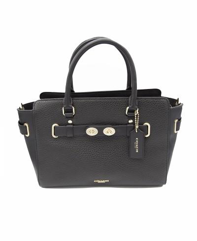 Coach Bubble Leather Blake 25 Carryall Shoulder Bag Handbag in Black