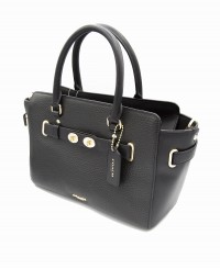 Coach Pebble Leather Blake 25 Carryall Shoulder Bag Handbag in Black