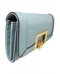 Tony Bianco Geo Lock Wallet in Pale Blue
