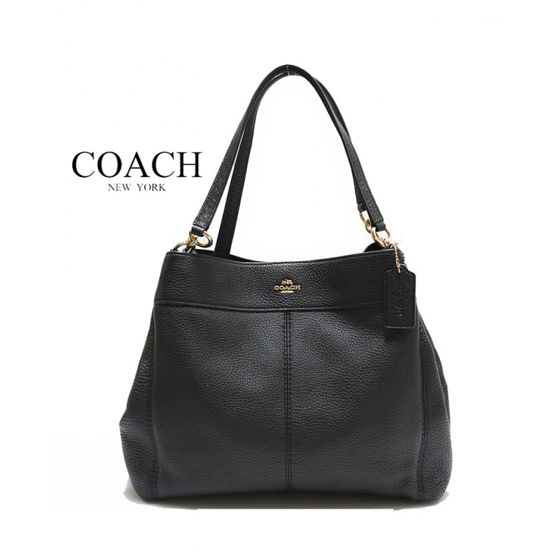 Coach Pebbled Leather Lexy Shoulder Bag in Midnight Colour c75f2dd9ce212