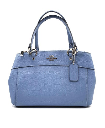 Coach Crossgrain Leather Mini Brooke Carryall in Pool Blue