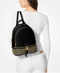 Michael Kors Rhea Medium Studded Leather Backpack