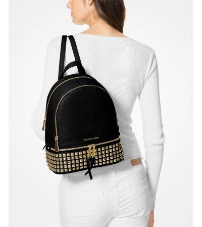 Michael Kors Rhea Medium Studded Leather Backpack