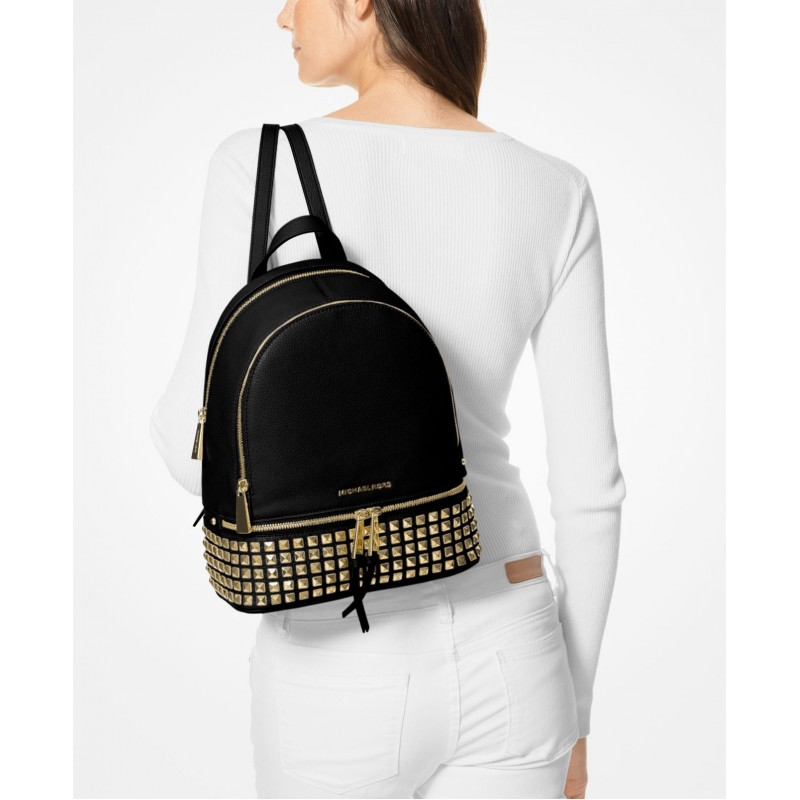 123b0eed09c20 Michael Kors Rhea Medium Studded Leather Backpack